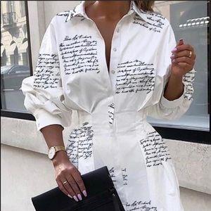 HP 🌟 RESTOCKED ~ Sexy White Letter Print Dress
